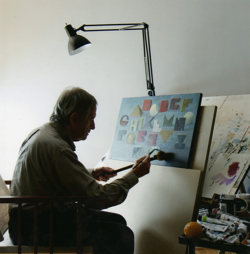 Subirachs pintant