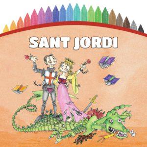 Quadern Il.lustrat Pintem! Sant Jordi - Editorial Mediterrània